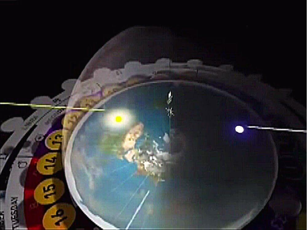 Night World Map ROUND FLAT