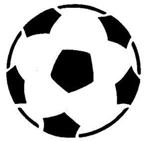 Pochoir Adhésif Home Déco 8 X 8 Cm Ballon Foot Pochoir