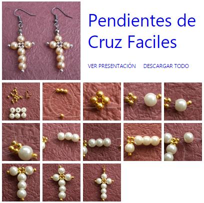 fd63290794ca Como hacer Pendientes de Cruz con Abalorios