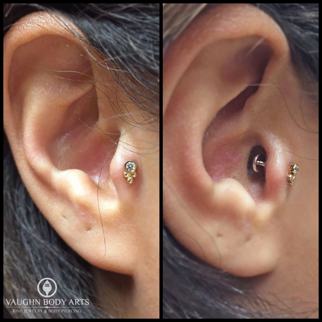 Melissa Stopped By The Other Evening For A Tragus Piercing These Sabrina  Ends From @