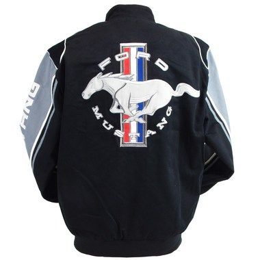 Mustang Racing Twill Jacket With Large Ford Mustang Tribar Logo On