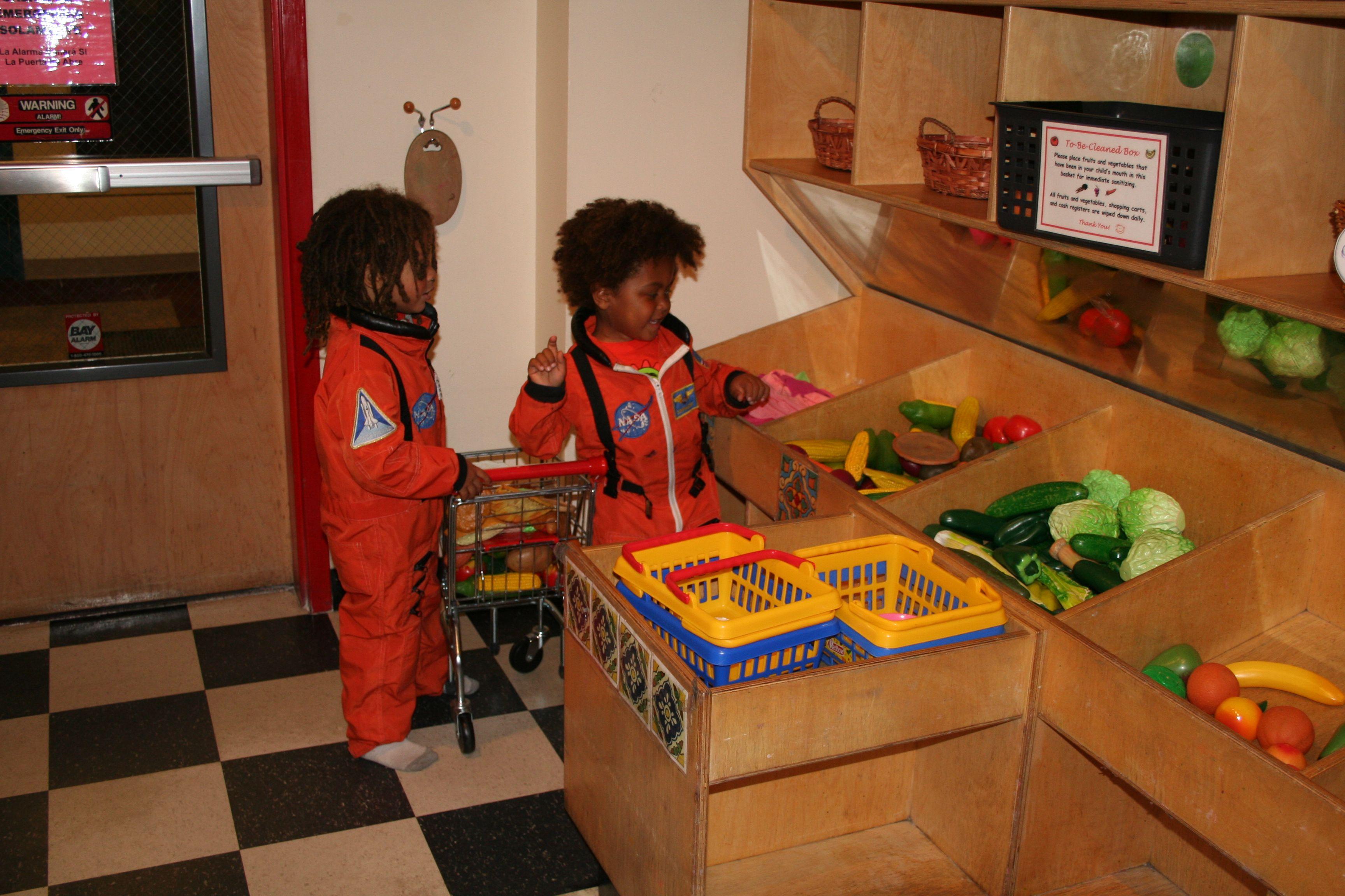 Astronauts going shopping
