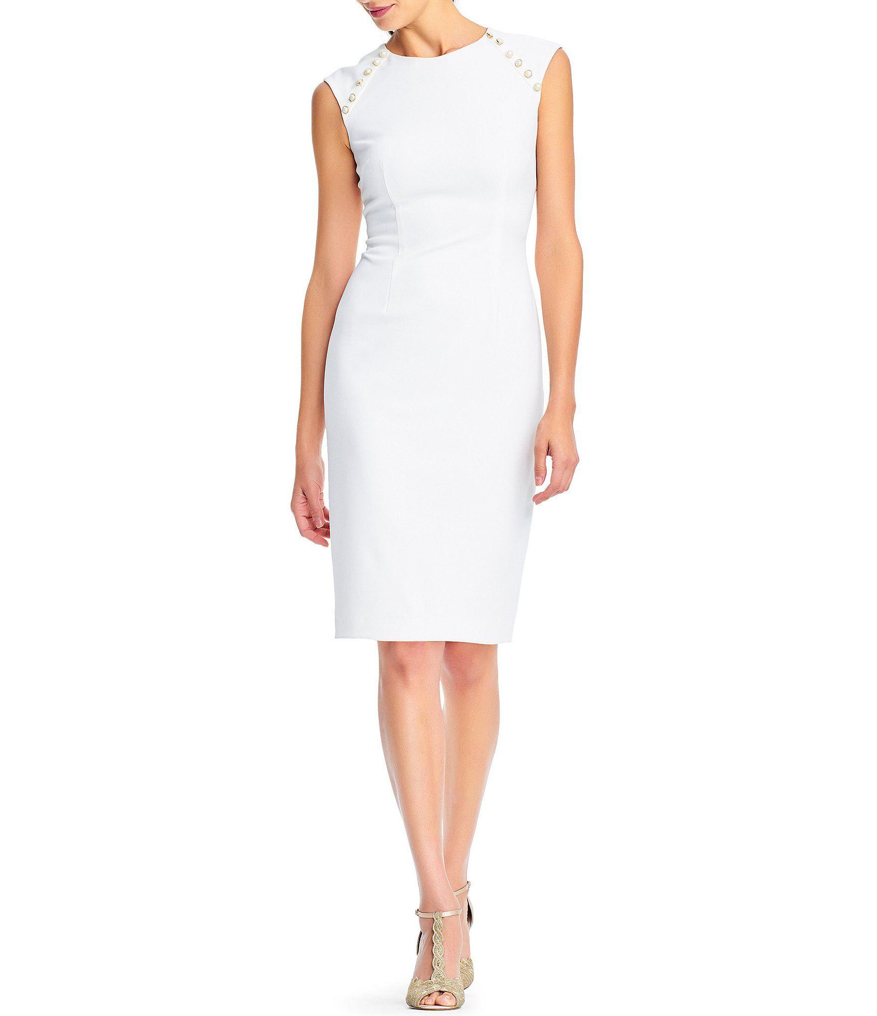cf61e06aa56 Adrianna Papell Pearl Button Sheath Dress  Dillards