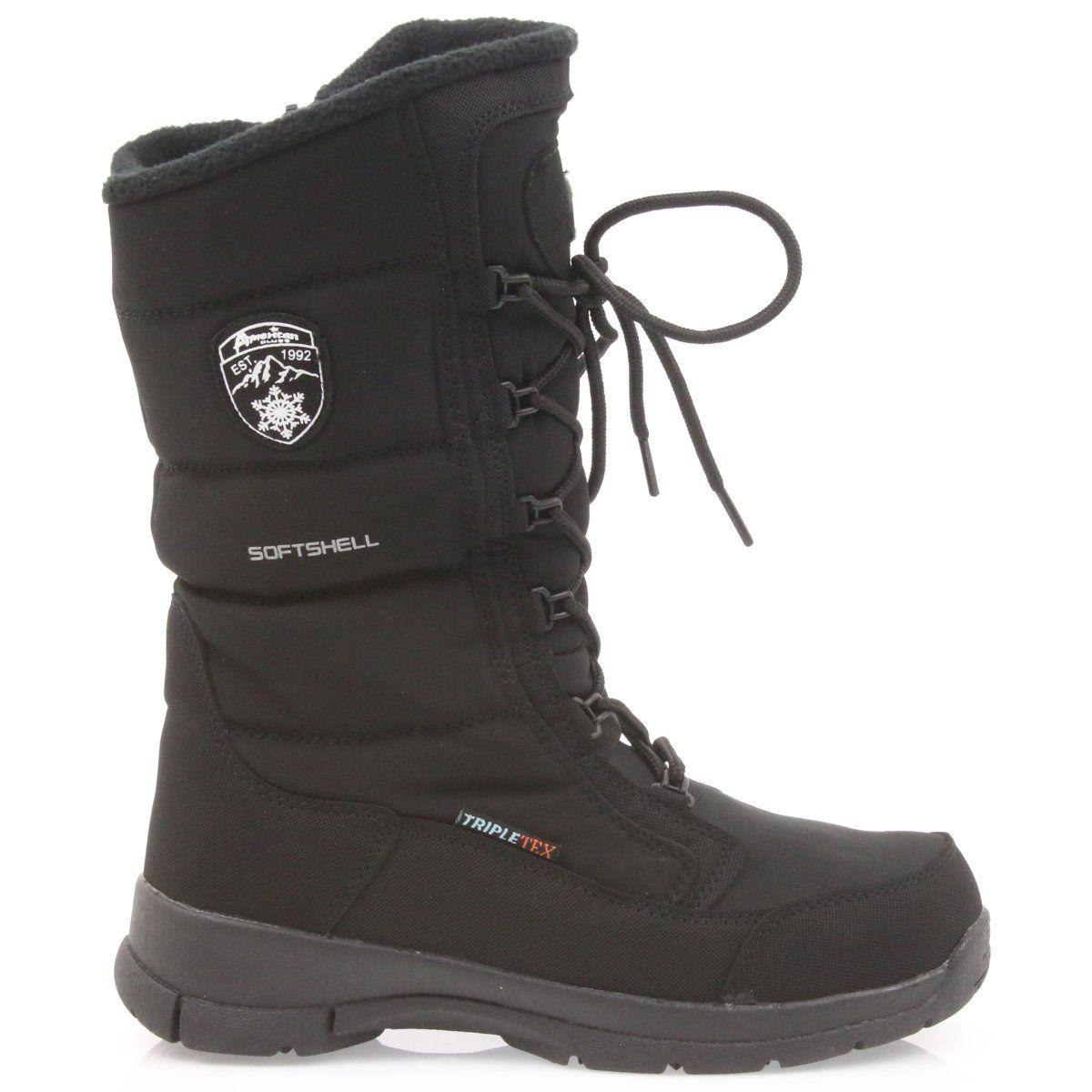 American Club Kozaki Softshell Z Membrana American Sn12 20 Czarne Boots Softshell Winter Boot
