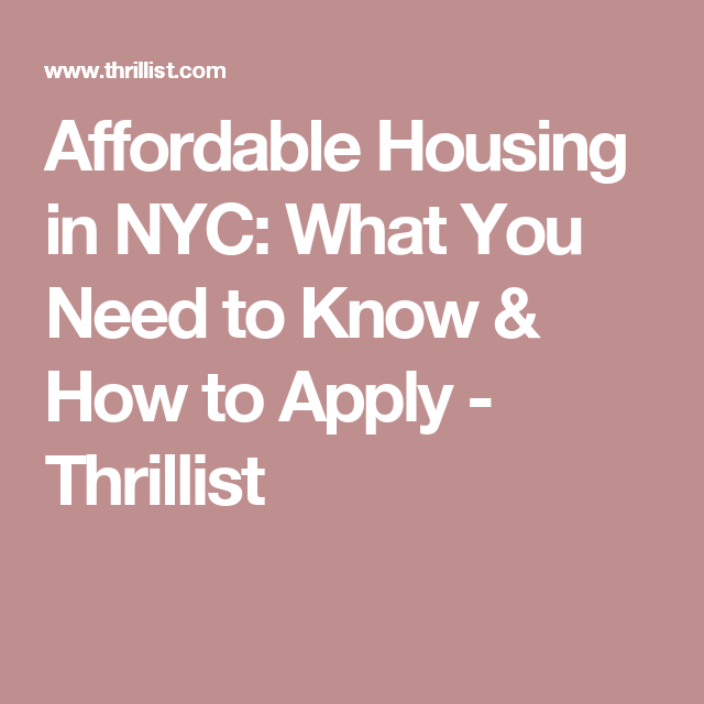 Everything You Need To Know About Affordable Housing In