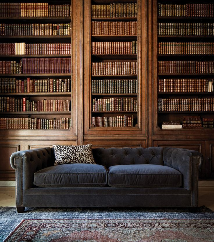 The Theodore Sofa Home Home Library Interior