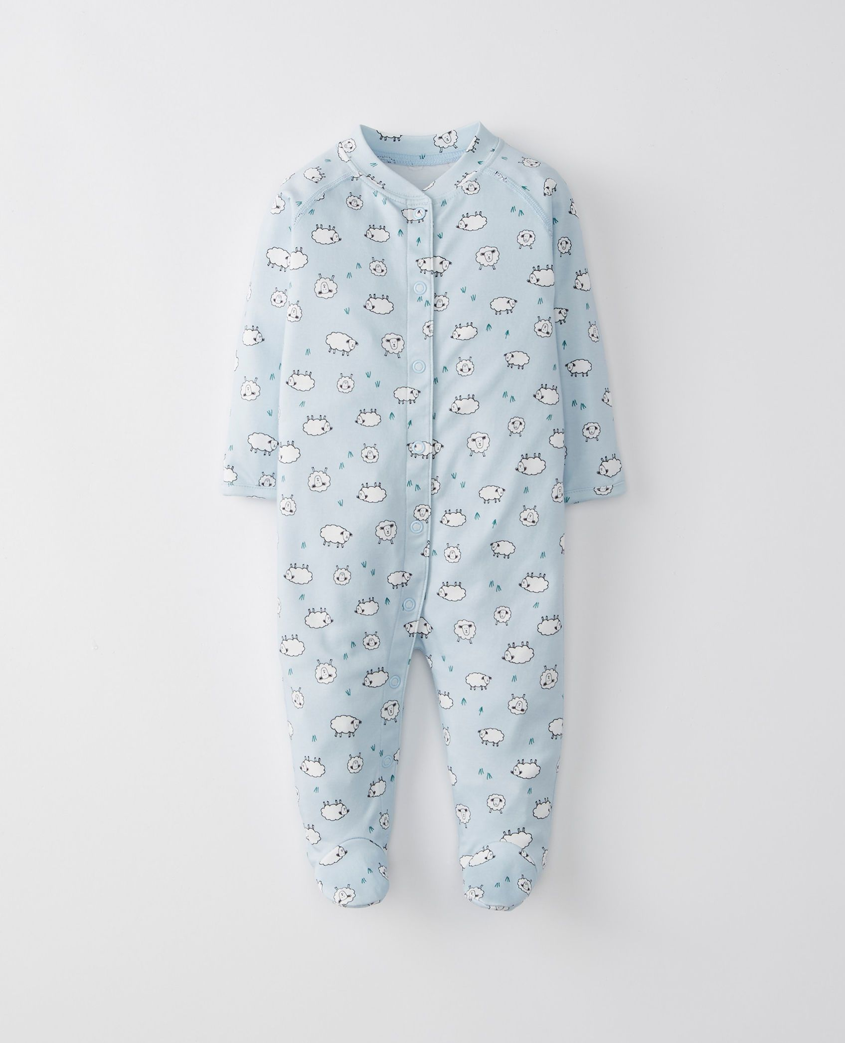d796b21b2407 Little Sleepers With Feet In Organic Pima Cotton in Lamby Pink ...