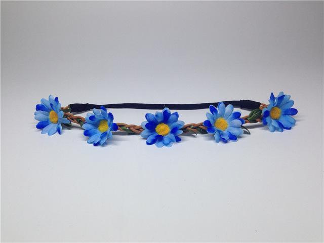 AWAYTR Boho Daisy Hair Bands for Women Hair Accessories New Wreath Headbands Festival Scrunchy Elastic Flower Hair Garland