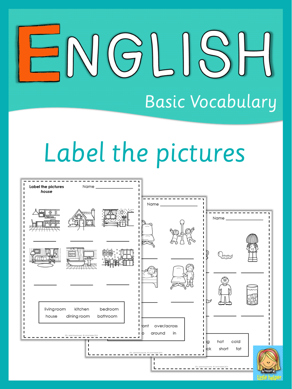 ESL label the pictures | Art lessons, Language arts and Teaching ideas