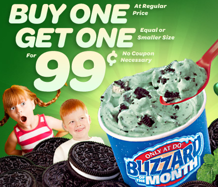photo regarding Printable Dairy Queen Coupons named Any moment blizzard for a buck this thirty day period at Dairy Queen