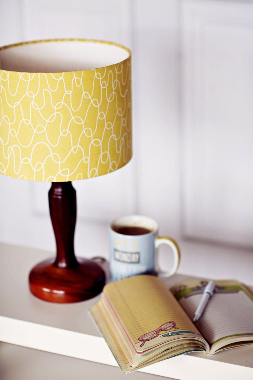 yellow drum lampshade yellow living room lamp yellow geometric rh pinterest com