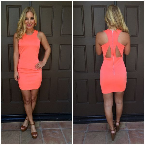 Speak Up Bodycon Dress - Neon Coral | Girls Night Out | Pinterest ...