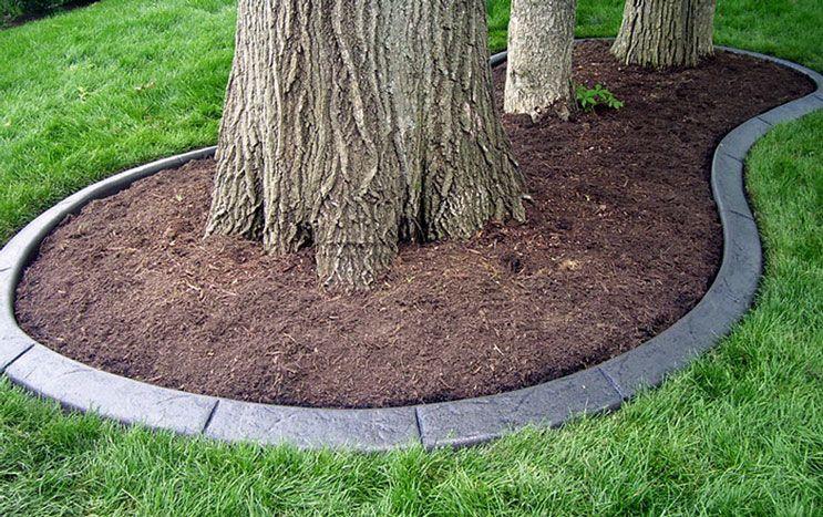 Concrete Edging, Concrete Curbing, Front Yard Landscaping - Concrete Edging Color I Want Too. Diy Concrete Landscape Edging