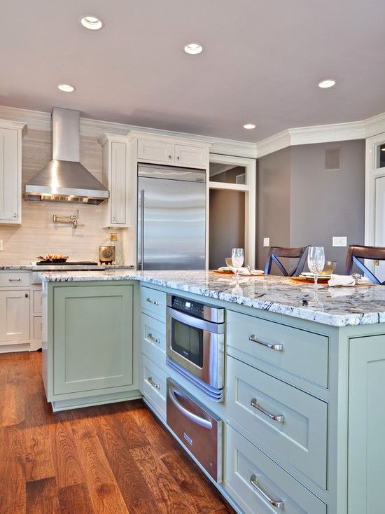 How To Install Microwave Under Kitchen Counter Eat Well 101 Contemporary Kitchen Turquoise Kitchen Home