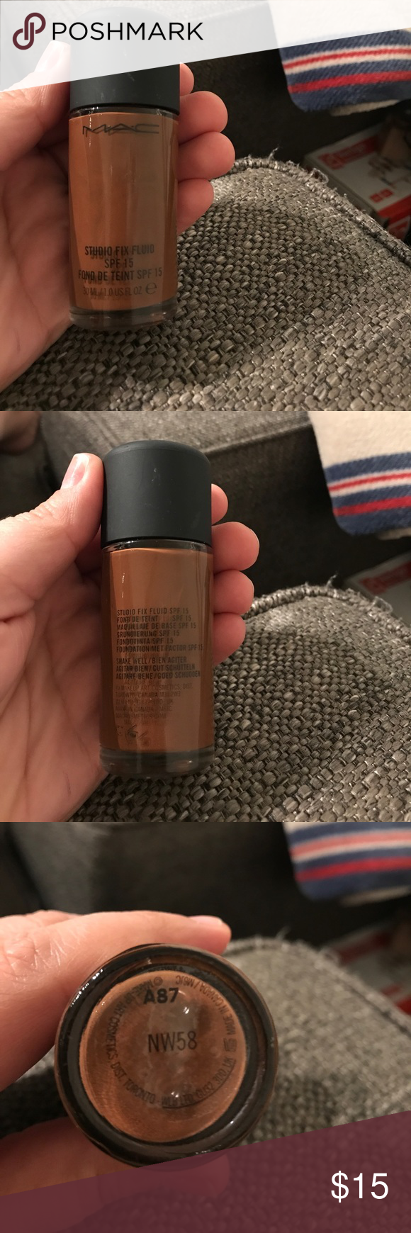 Mac Studio Fix Foundation New Without Box, Color NW 58