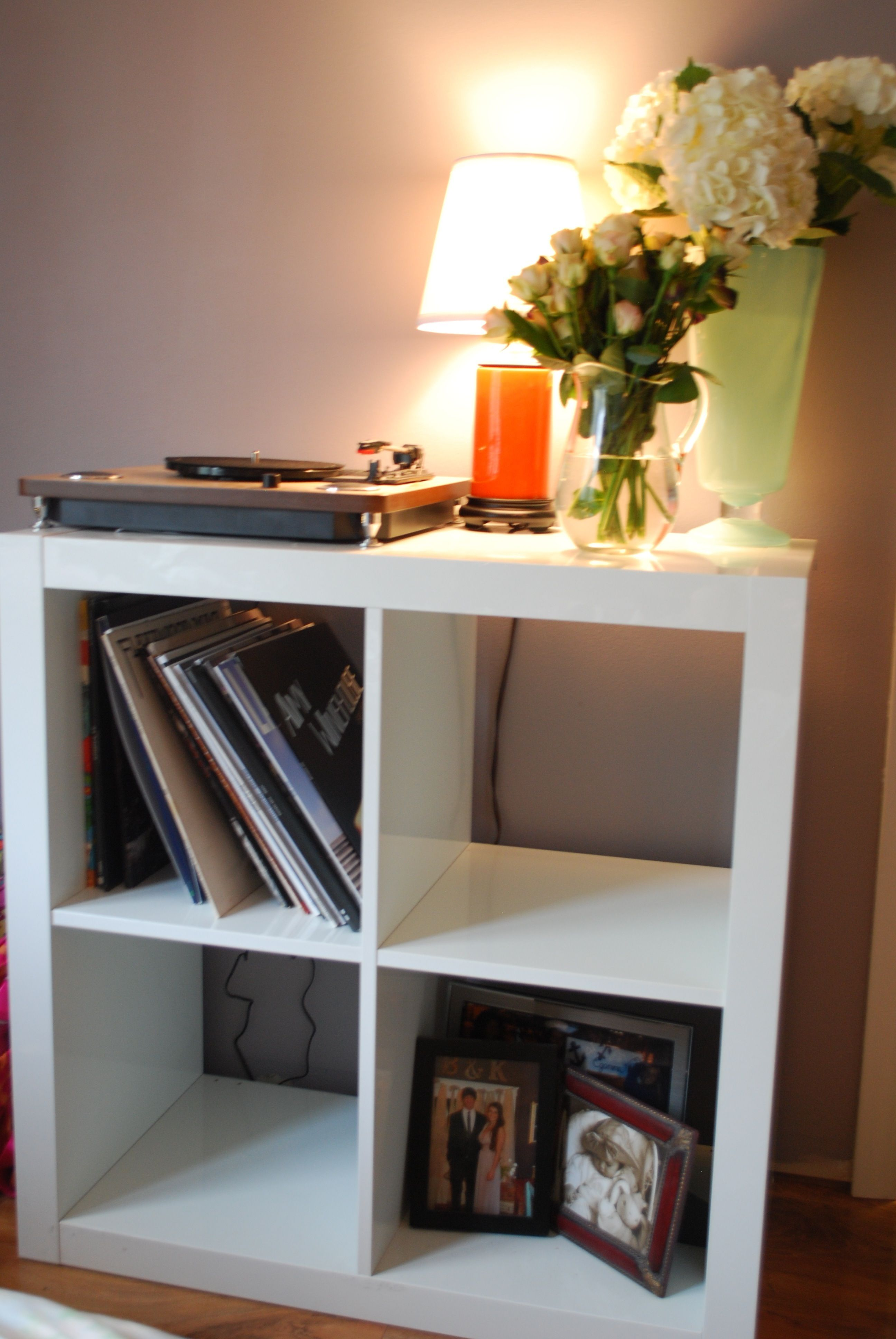 Ikea Expedit Shelves Turned Into A Vinyl Record Player Station