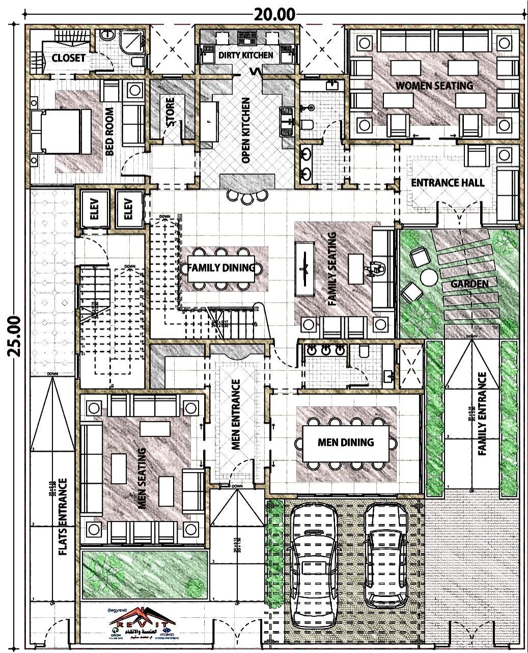 مخطط فيلا في جده مخطط فيلا مودرن House Layout Plans Modern House Plan New House Plans