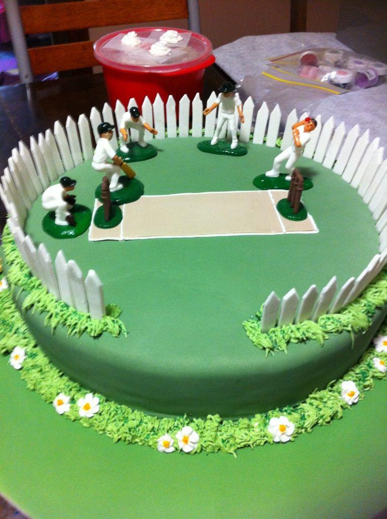 Birthday Cake Decorating Ideas Dad : Cricket Pitch Birthday Cake Cakes by Erin Pinterest ...