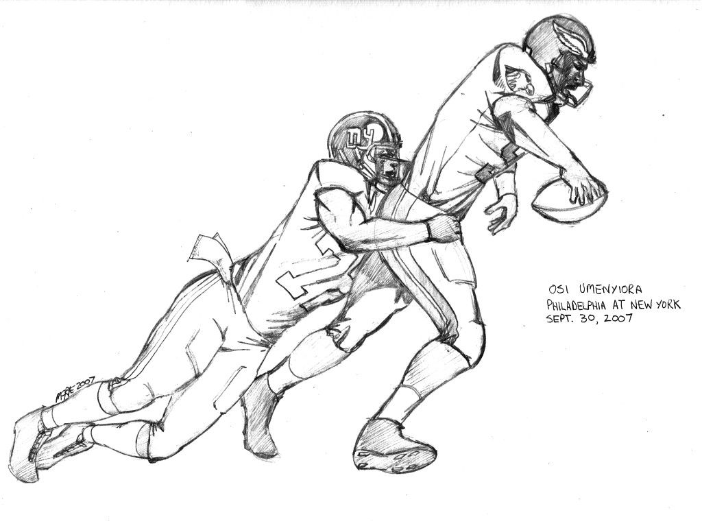 Nfl Football Players Eagles Coloring Pages