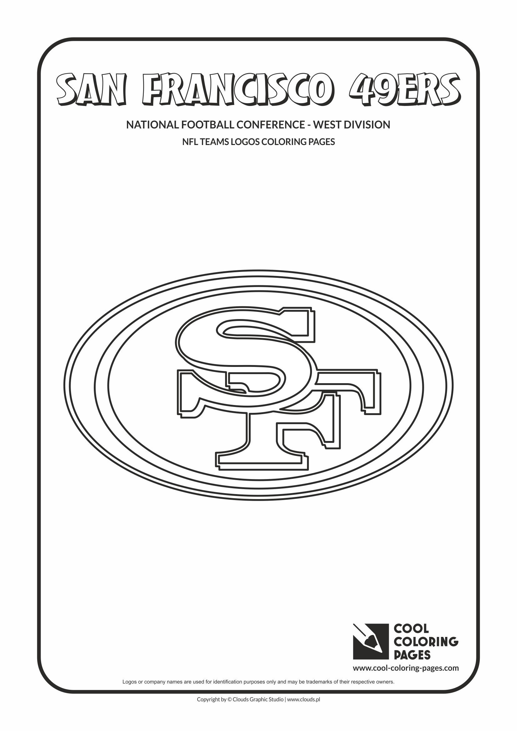 San Francisco 49ers Nfl American Football Teams Logos Coloring