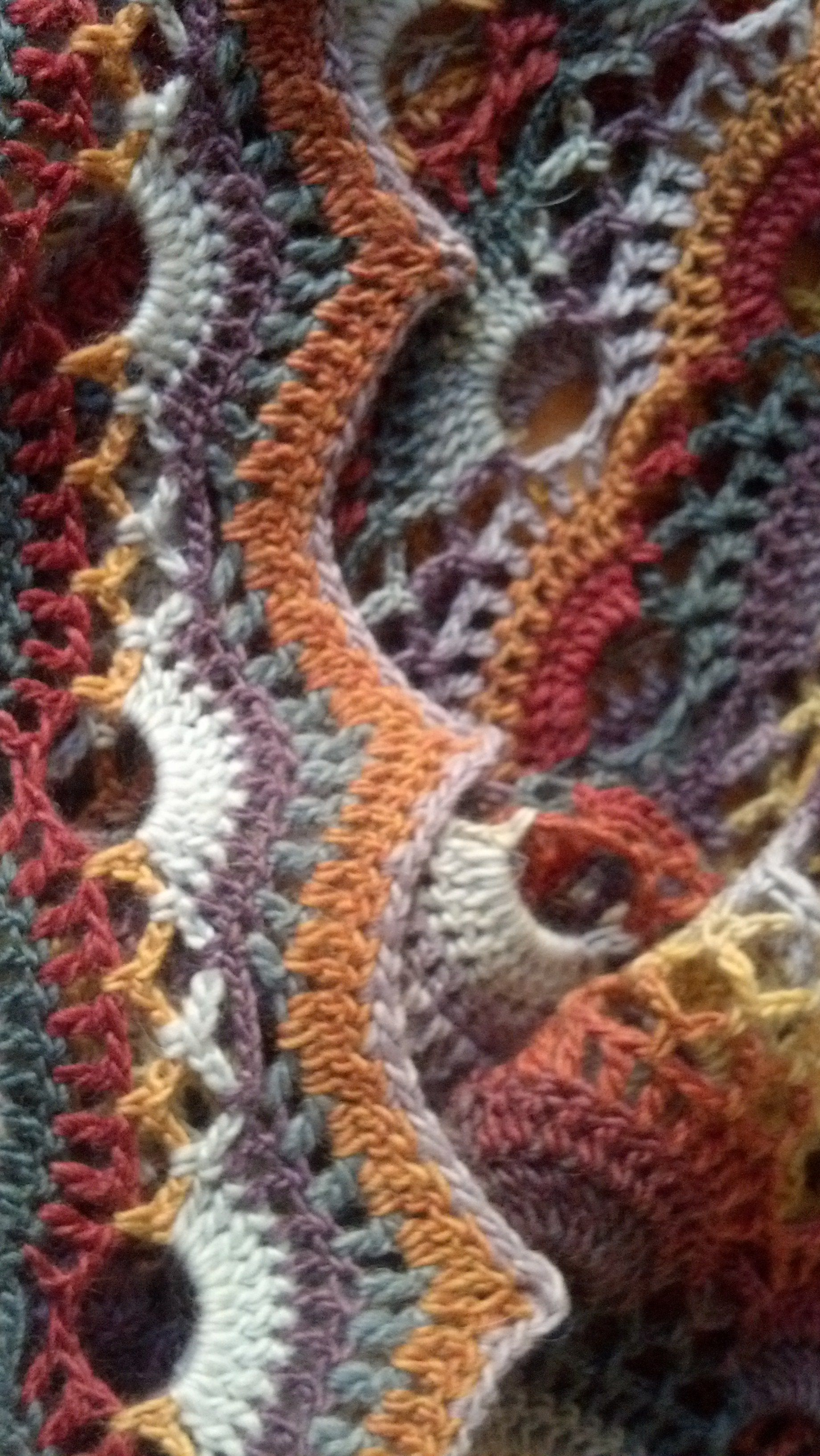 Crochet German Scallop Shawl Free Pattern Using Knitpicks Chroma