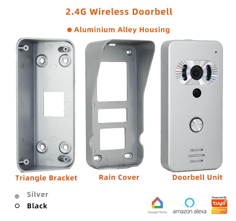 Wifi Video Doorbell Aluminium Housing Rain Cover Triangle Protection Persistent Inspiring Video Doorbell Rain Cover Video Door Phone