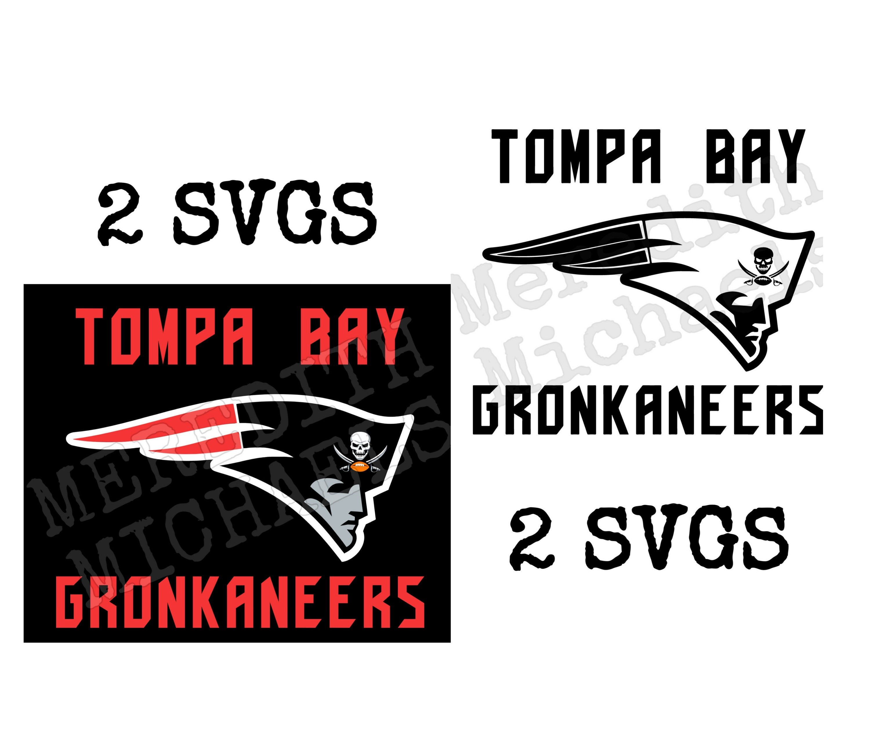 Tompa Bay Gronkaneers Svg With Bucs Skull In Patriots Logo Ex Pats Tom Brady Rob Gronkowski Tbxtb Tampa Bay In 2020 Patriots Logo Vintage Shorts Vintage Levis