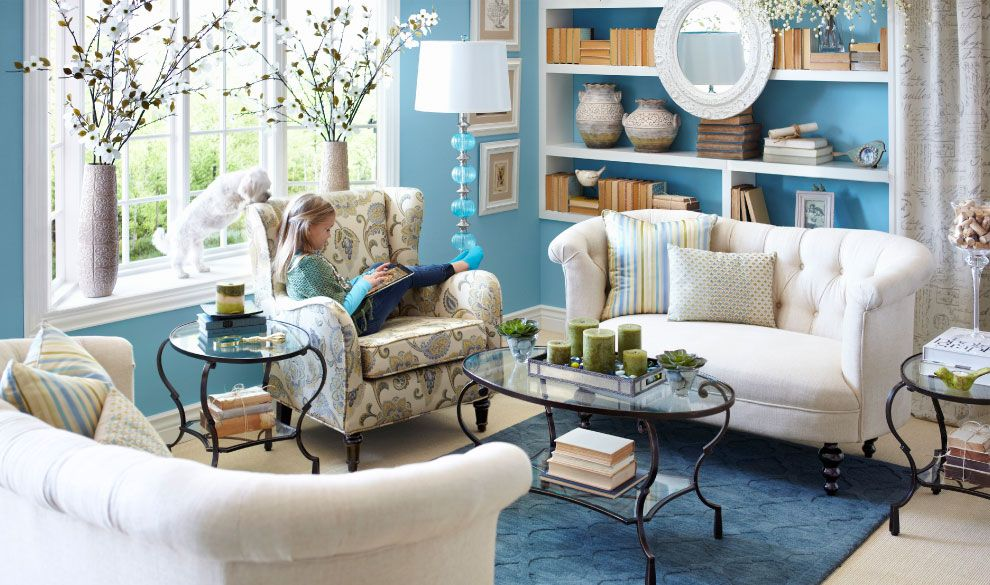 living room in blue%0A Room Gallery  Design Ideas from our Interior Designers   Pier   Imports