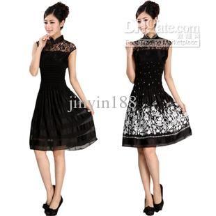 Wholesale 2012 womens fashion improved lace cheongsam two-piece cheongsam dress wedding dress, Free shipping, $26.16-30.28/Piece | DHgate