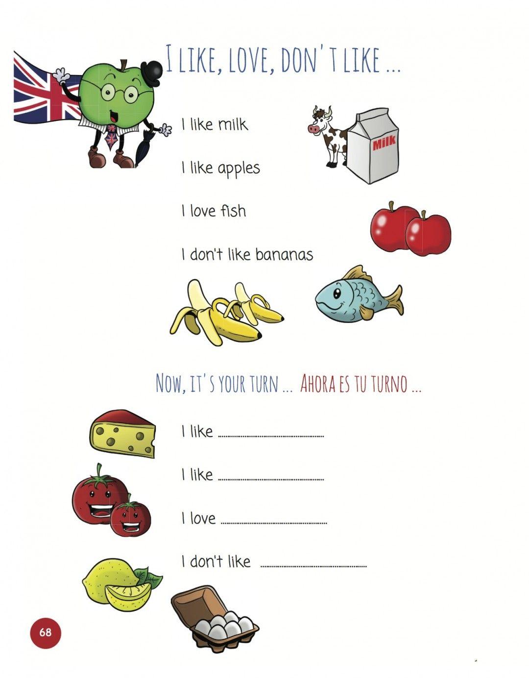 Un Metodo Sencillo Para Ensenar El Verbo To Like En Ingles