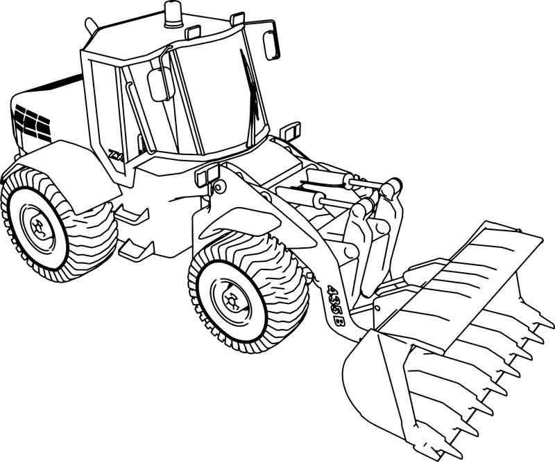 Jcb 135b Bulldozer Ladle Coloring Page Tractor Coloring Pages Bear Coloring Pages Bible Coloring Pages