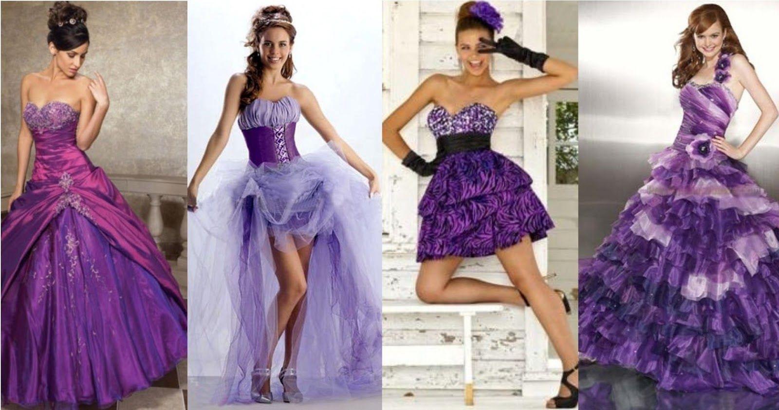 Tu Vestido de 15 Años: Vestidos de 15 en Color Purpura o Violeta ...