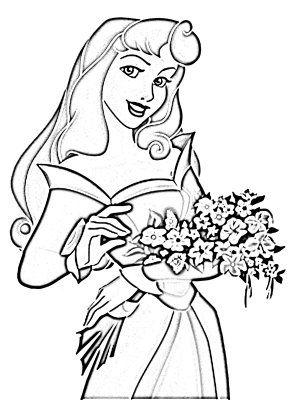 Princess Aurora Disney Coloring Pages Con Imagenes Dibujos
