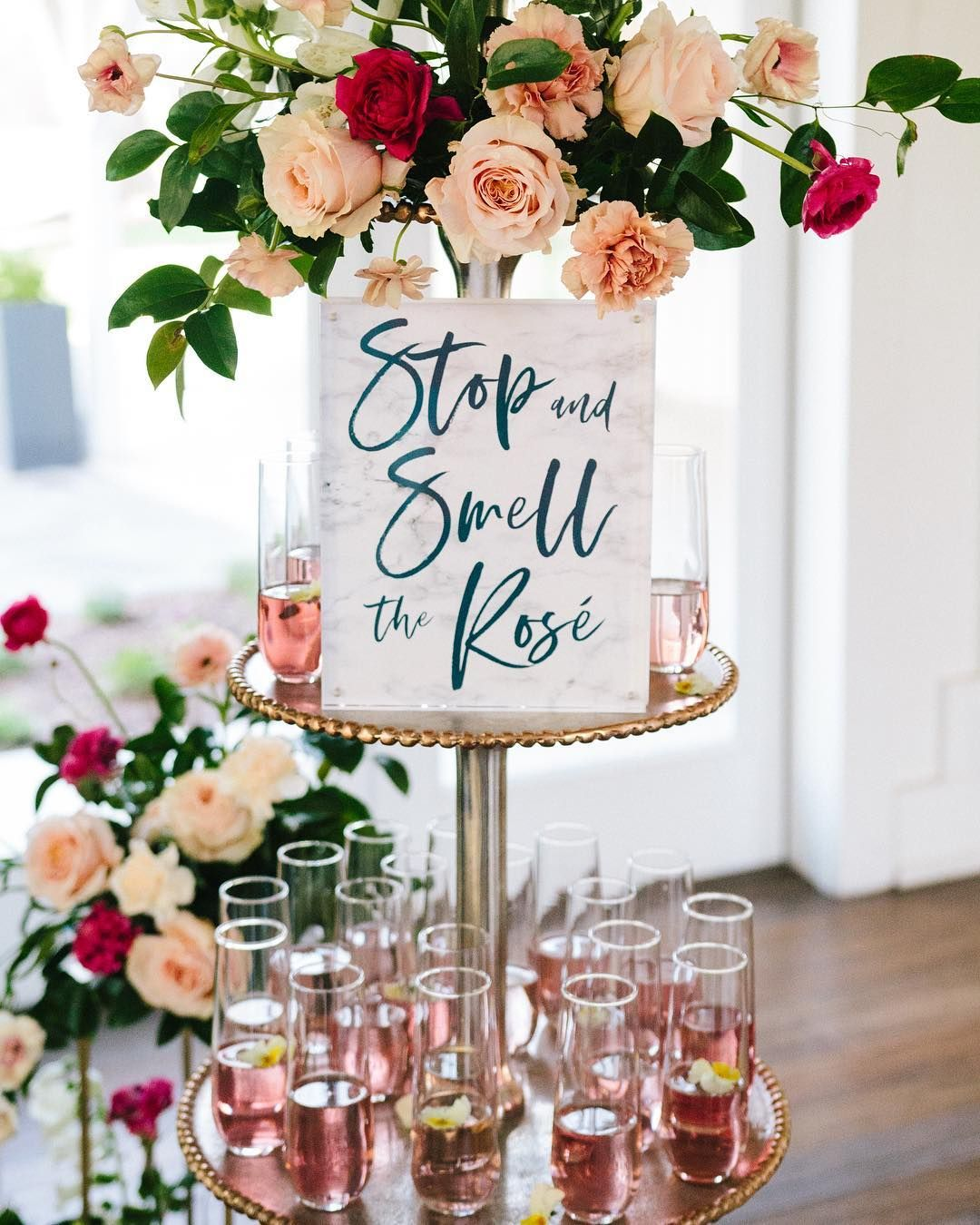 Can you imagine walking into an engagement party, bridal shower, bachelorette party or wedding and seeing this? Goals. Absolutely gorgeous… #engagementparty
