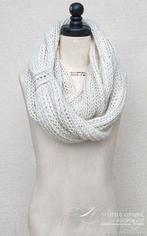 Meringue cowl for kids and adults *Free Pattern ***So elegant ...