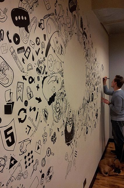 coffee store wall drawing - google search | store idea | pinterest