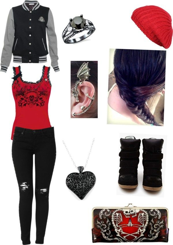 How to Be Emo in Middle School: 14 Steps (with Pictures ... |Emo School Clothes For Girls