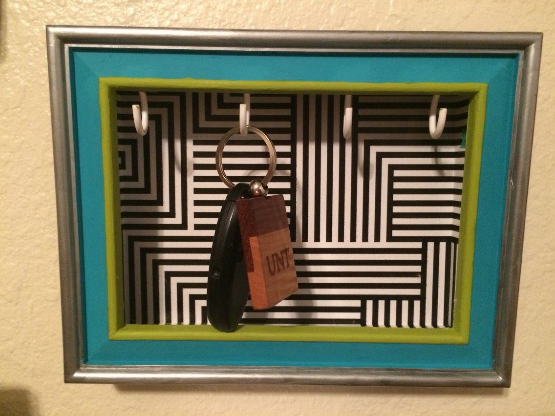 Picture frame key holder shadow box   Completed Pinterest projects ...