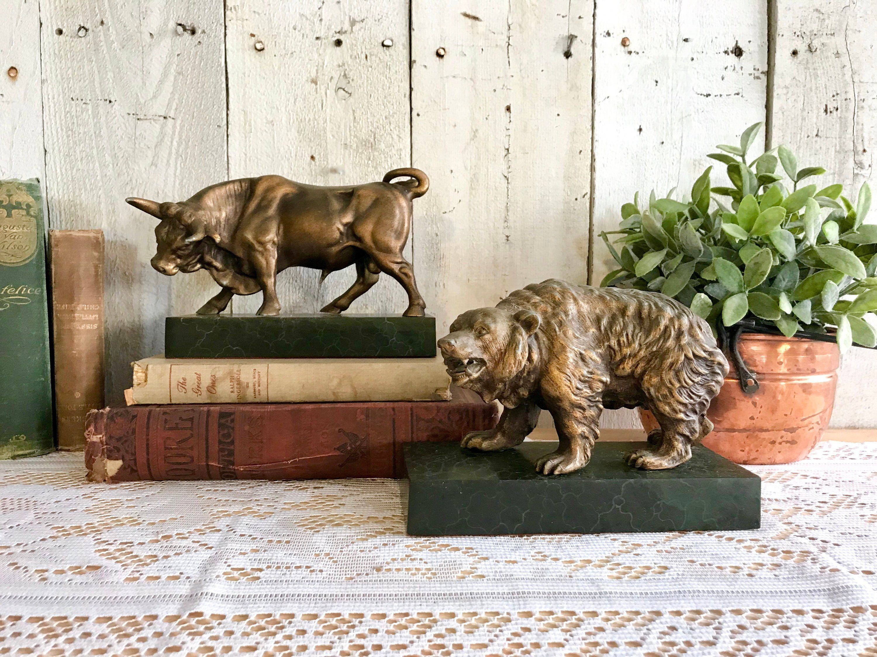 Bull And Bear Gifts Stock Market Office Decor Home Decorating Ideas