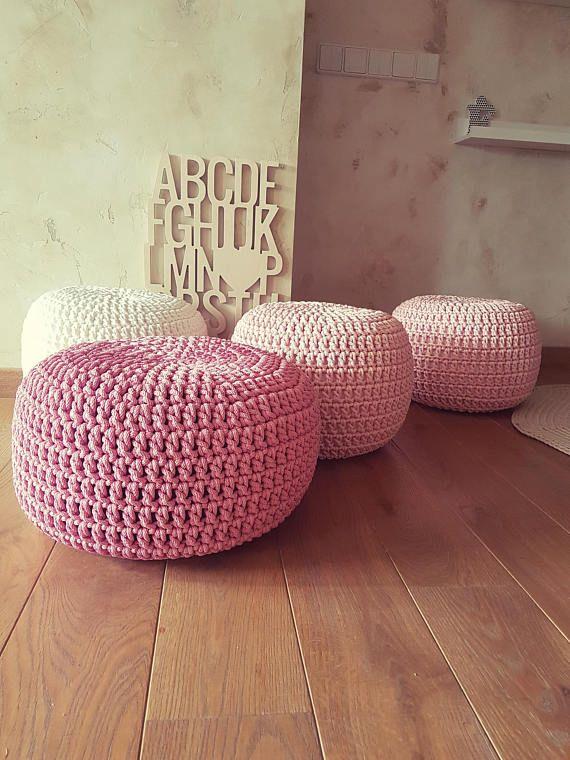 Pale Pink Pouf Ottoman Pouf Cover Pouffe Pouf Chair Coffee Table Custom Nursery Decor Handmade Gifts Kids