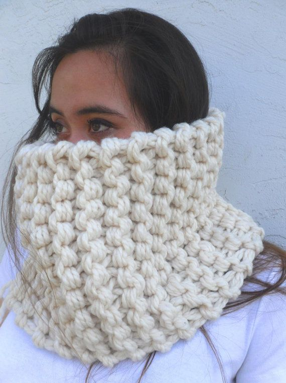 Tahoe The Ultimate Thick Knitted Wool Circle Cowl by Tejidos | cowl ...