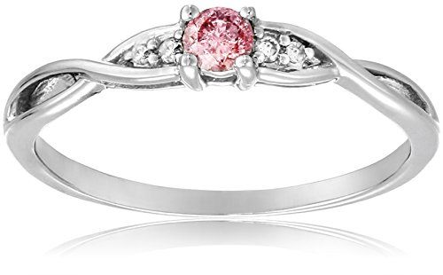 10k White Gold Pink and White Diamond Bridal Ring, (0.14 Cttw, G-H Color, I1-I2 Clarity), Size 9	by Amazon Curated Collection - See more at: http://blackdiamondgemstone.com/colored-diamonds/jewelry/wedding-anniversary/engagement-rings/10k-white-gold-pink-and-white-diamond-bridal-ring-014-cttw-gh-color-i1i2-clarity-size-9-com/#sthash.8gTOKpIX.dpuf