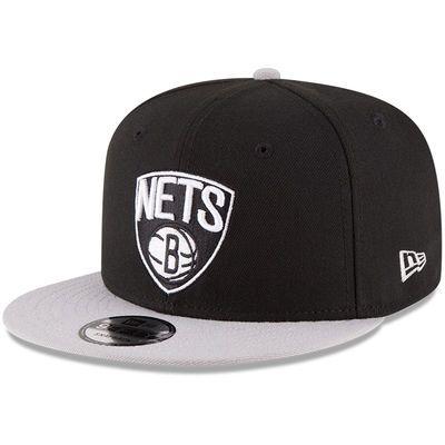 new product be63b d73aa Men s New Era Black Gray Brooklyn Nets 2-Tone 9FIFTY Adjustable Snapback Hat
