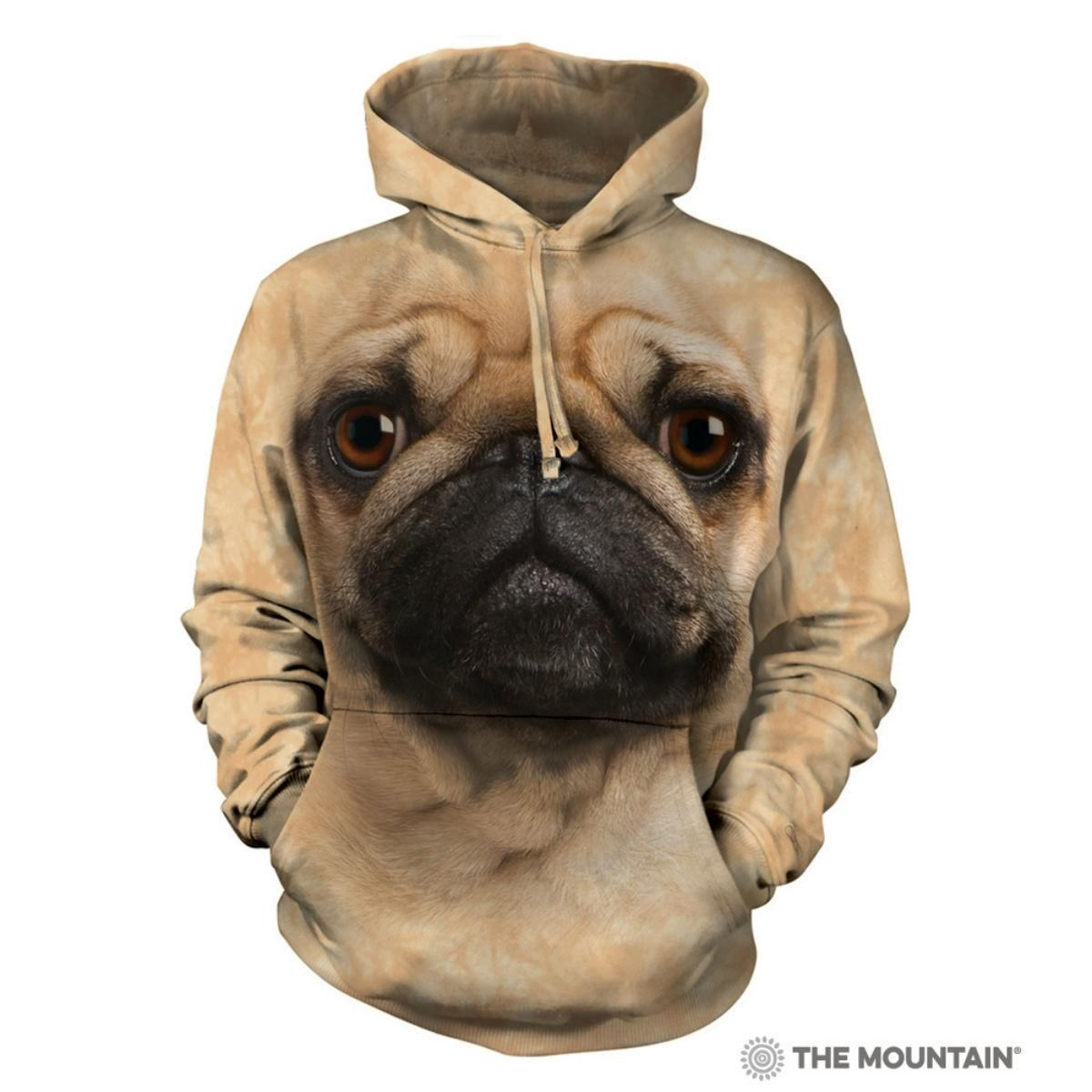 Pug Face Human Hoodie By The Mountain Hoodies Pugs Fawn Pug