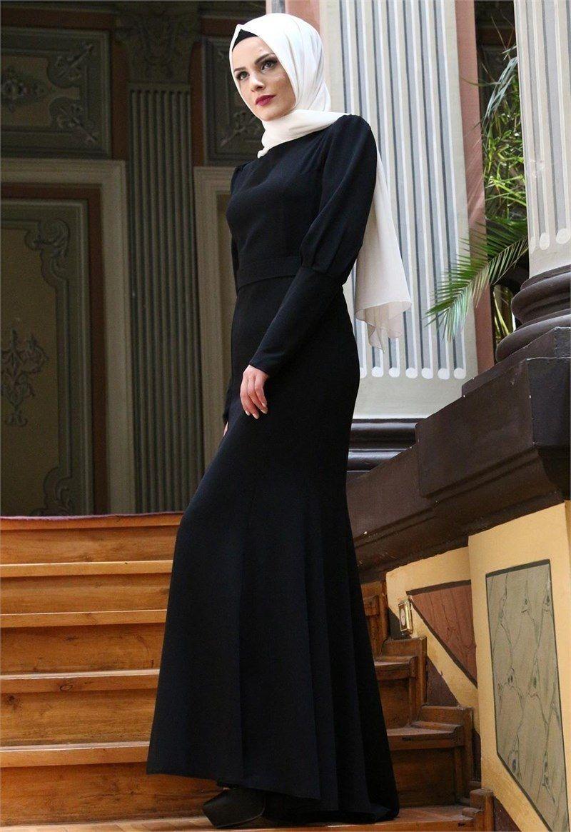 Modamerve Siyah Tesettur Balik Abiye Elbise Modelleri Elbise Modelleri Elbise Elbiseler