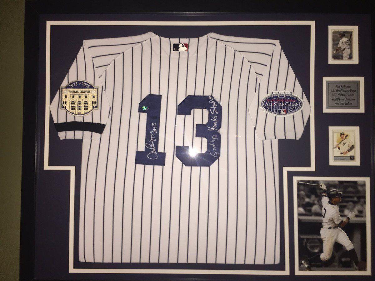 Arod Yankees Framedjersey Jerseyframing Framed Jersey Jersey Frame Company