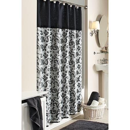 Better Homes And Gardens Damask Fabric Shower Curtain Curtains