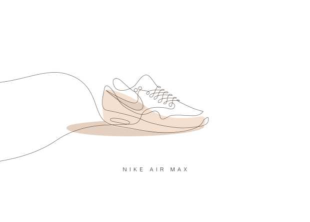 Iconic Sneakers Illustrated With Just A Single Line - UltraLinx