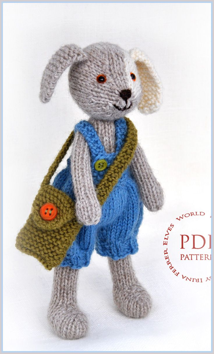 Puppy Dog Buster Toy Knitting Pattern Toy Knitting Pattern