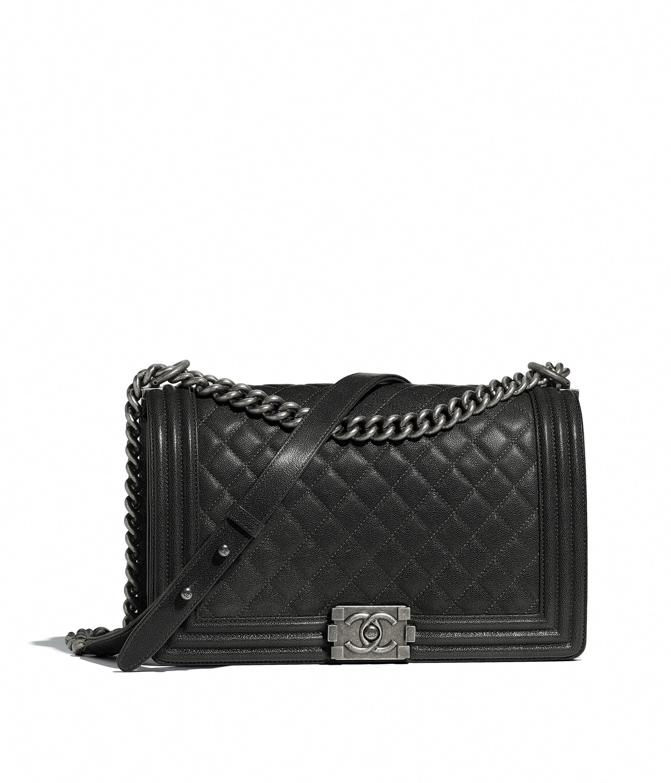 c6f55bd4c6b554 Calfskin & Ruthenium-Finish Metal Black BOY CHANEL Handbag | CHANEL  #Chanelhandbags